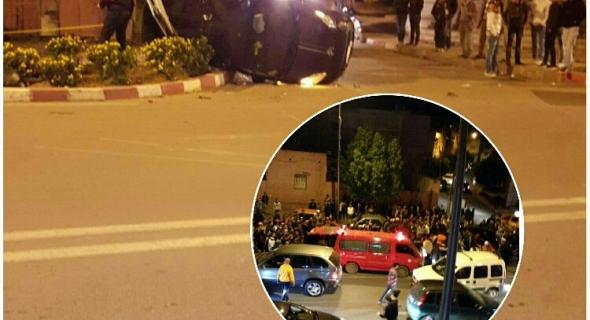 حوادث خطيرة داخل المدار الحضري لبني ملال واصطدام بين سيارتين وانقلاب احداهما واخرى بين دراجة نارية وسيارة وهذه الحصيلة -الصور-