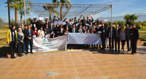 لأول مرة بجهة بني ملال خنيفرة جمعية التأهيل للشباب تنظم نموذج الأمم المتحدة
