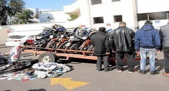 درك القصيبة يطيح بعصابة خطيرة متخصصة في سرقة الدراجات النارية وحجز 4 منها ذات حجم كبير