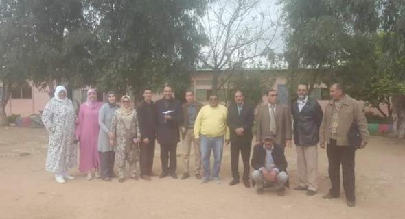 المدير الاقليمي للتعليم بالفقيه بن صالح في زيارة تفقدية لمجموعة من المؤسسات التعليمية  ويقف على مجموعة من مطالب شغيلة التعليم