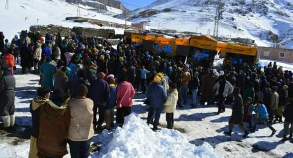 5000 أسرة بجبال أزيلال تستفيذ من مساعدات مؤسسة محمد الخامس للتضامن