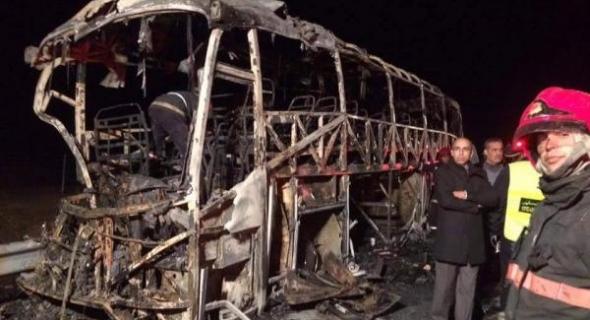 فاجعة طرقية تهز المغرب من جديد… مقتل 11 راكب داخل حافلة اشتعلت بها النيران