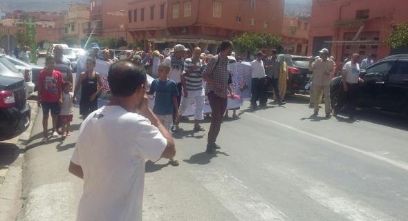 مسيرة احتجاجية تجوب شوارع بني ملال لأسر ضحايا غرق المركب بايطاليا
