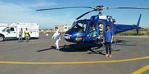 انقاد ونقل مولود في يومه14 بواسطة المروحية الطبية لوزارة الصحة بالمستشفى الميداني القباب باقليم خنيفرة