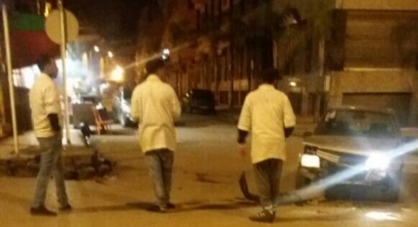 حادثة سير ببني ملال بين سيارة بيجو وسيارة بونتو يقدوها فرنسي تخلف خسائر مادية