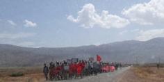 عاجل… شباب تيموليلت في مسيرة احتجاجية على الأقدام في اتجاه ولاية الجهة ومطالبهم اجتماعية و رئيس المجلس يرد