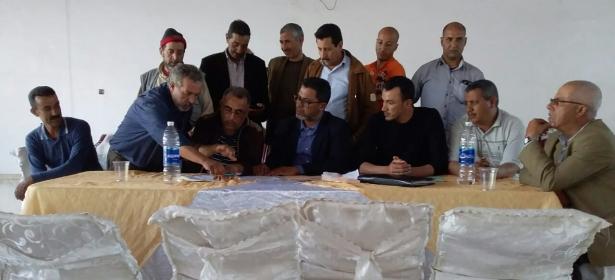 المكتب النقابي للاتحاد المغربي للشغل قطاع سيارة الأجرة الصنف الأول ببني ملال يجدد أعضاؤه وهذه تشكيلته