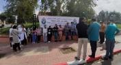حركة الممرضين والتقنيين بالصحة بجهة بني ملال خنيفرة في وقفة أمام ولاية بني ملال -فيديوهات-