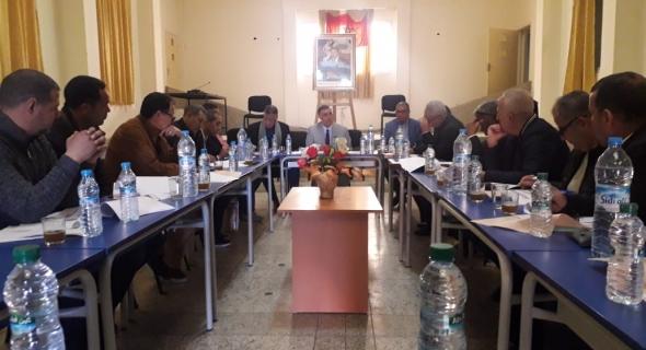 اجتماع اللجنة المحلية للمبادرة الوطنية للتنمية البشرية بقصبة تادلة والمصادقة على عدة مشاريع