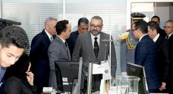 """الملك محمد السادس يُدشن منصة الشباب """"أركانة"""" للإنصات والتوجيه بآيت ملول"""