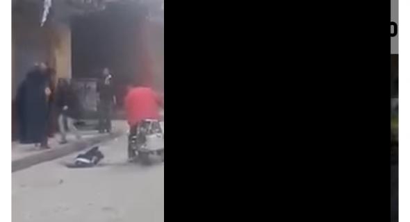 فيديو صادم يوثق لحظات انتحار شاب بإلقاء نفسه من الطابق التاسع !
