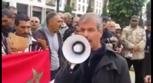 القوات العمومية تمنع وقفة احتجاجية لقدماء العسكريين بالرباط -فيديو-