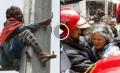 بالفيديو… عجوز تتسلق عمود كهربائي بالرباط وتحاول الانتحار والوقاية المدنية تنقذ حياتها