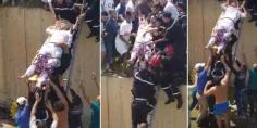 """شوهة بالفيديو… فيسبوكيين يسخرون من طريقة اسعاف ضحايا حادثة سير ويعلقون :"""" قالك بغاو ينظمو لمونديال"""""""
