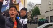 """تفهم تحماق!!… """"رابور"""" مغربي يتسبب خلال تصوير فيديو كليب في فوضى و مواجهات بين الشرطة الإيطالية وأزيد من 300 شاب من معجبيه =فيديو="""