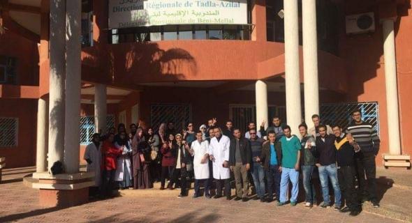 بالصور… الممرضون غاضبون بجميع أقاليم المملكة ويخضون برنامجا احتجاجيا تصعيديا ووقفة احتجاجية ببني ملال