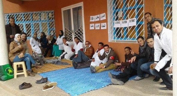 عاجل…  الممرضين والممرضات يدخلون في اعتصام أمام مديرية الصحة ببني ملال وهاعلاش