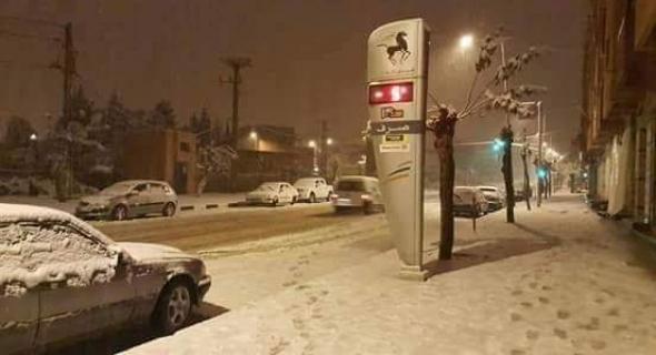 شوارع أزيلال تكسوها الثلوج
