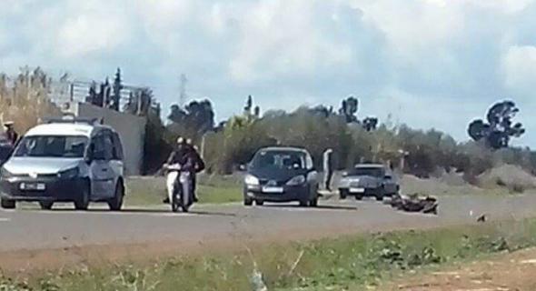 عاجل… حادثة سير بين سيارة للدرك الملكي ودراجة نارية ونقل السائق لمستعجلات بني ملال