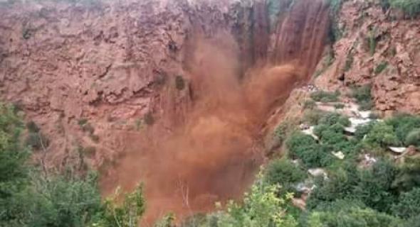 شلالات أوزود بعد العاصفة