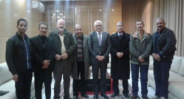 الوالي محمد دردوري  يستقبل نادي الصحافة لجهة بني ملال وخنيفرة